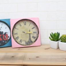 100円Shopの時計を子供部屋にもリビングにも合うアンティーク風にリメイク!