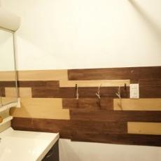 湿気の多い洗面所を一新!漆喰機能をプラス!素敵にDIYリフォーム