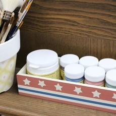 バターミルクペイントで100均のウッドボックスをカントリー風ペイント!