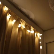 IKEAのLEDライトチェーンを使って光るガーランドを作ろう!