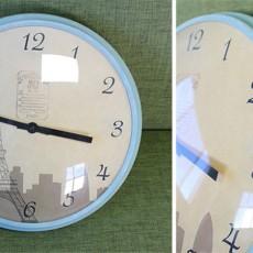 カフェ風リビング【6】IKEAで購入した時計をアンティーク風にペイントしてみた