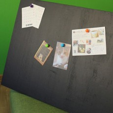 カフェ風リビング【7-1】カフェ風に必須!磁石がくっつく黒板を作ろう(マグネット編)