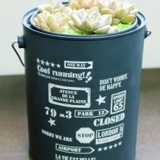 空き缶を使って植木鉢を作ろう!リメイク缶の魅力!