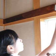 和モダンDIY【1】鴨居と柱をダークブラウンに塗りかえて高級感がでた!