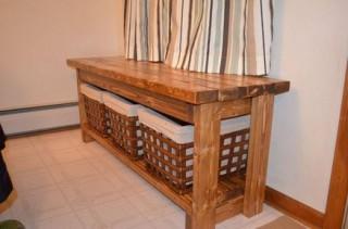 カゴ付きローテーブル