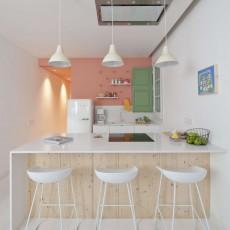 壁に色を取り入れた素敵なキッチンの海外事例!