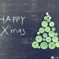 簡単!余っているボタンを使ってクリスマスツリーを作ってみた。