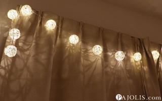 LEDライトのガーランド