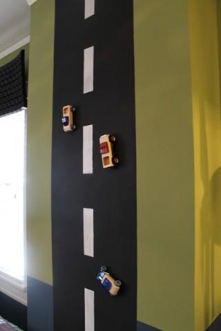 マグネットの道路と車