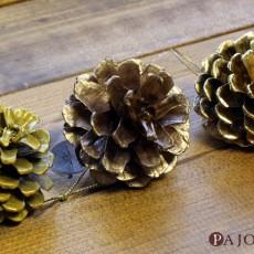 どのゴールドがお好き?松ぼっくりをゴールド塗料3種類 ペイントして輝きを比較!