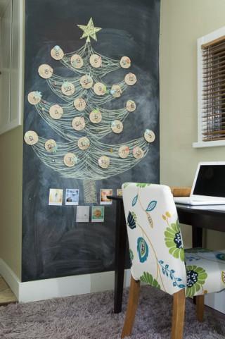 黒板に描いたツリー