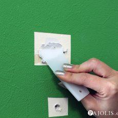 【ネジ穴補修】ペイント塗装のクロス(壁紙)補修はこうすればOK!