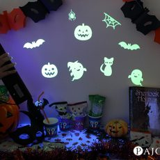 パーティーで驚かせよう♪夜光(蓄光)シートで光るハロウィン!!