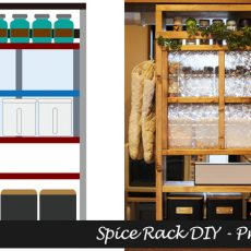はじめてのセルフリノベーション~【前編】1×8材DIYでキッチンカウンターにおしゃれな調味料ラックをDIY~