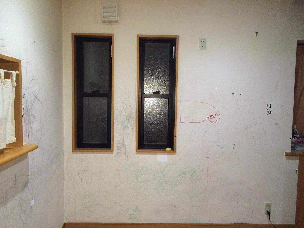 壁の汚れはペイントdiyで元通り 子供が落書きした壁をセルフリフォーム