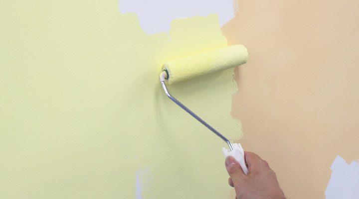 ローラー塗り,壁紙