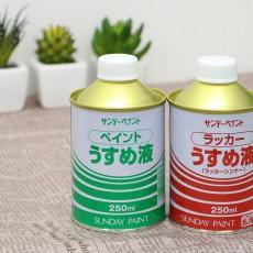 ペイントうすめ液とラッカーうすめ液の違いは?